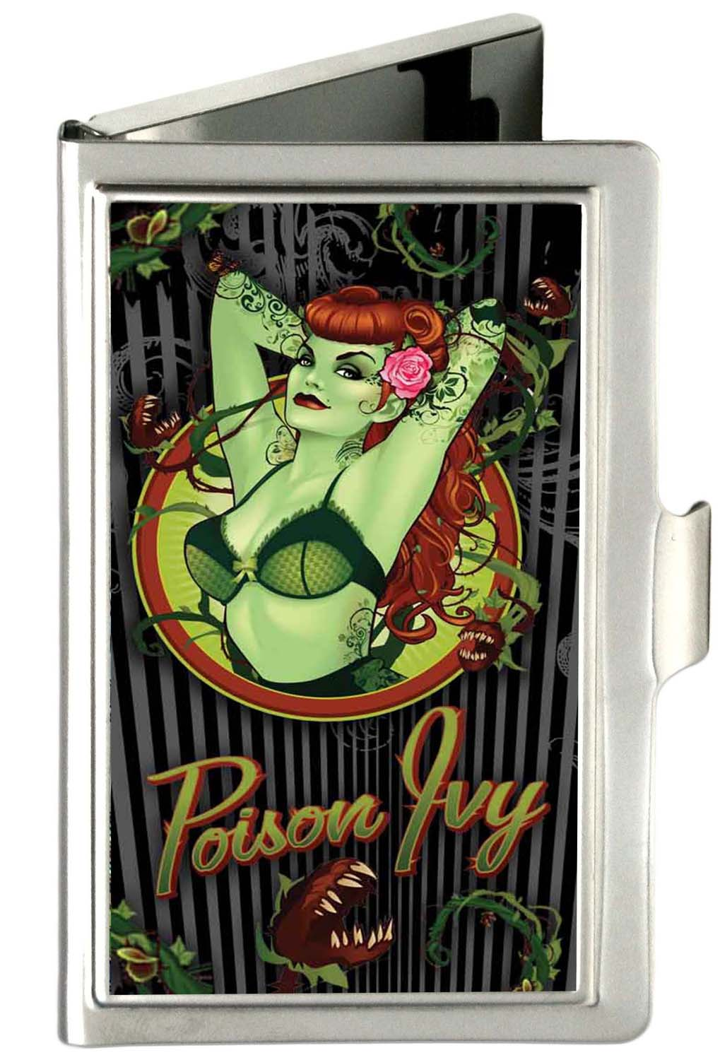 Details About Dc Comics Comic Book Heroes Poison Ivy Pin Up Small Business Card Holder