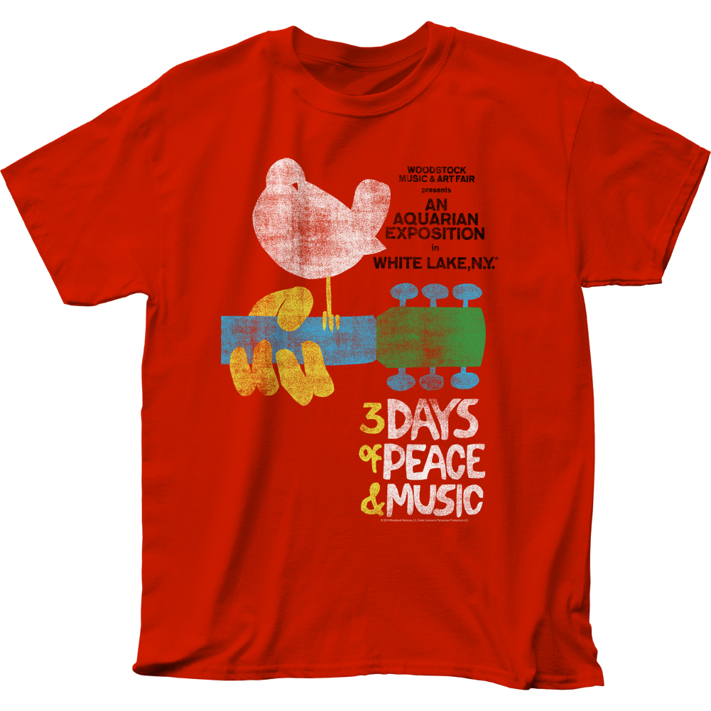 Woodstock Famous Music And Arts Festival Poster Adult T Shirt Tee Ebay
