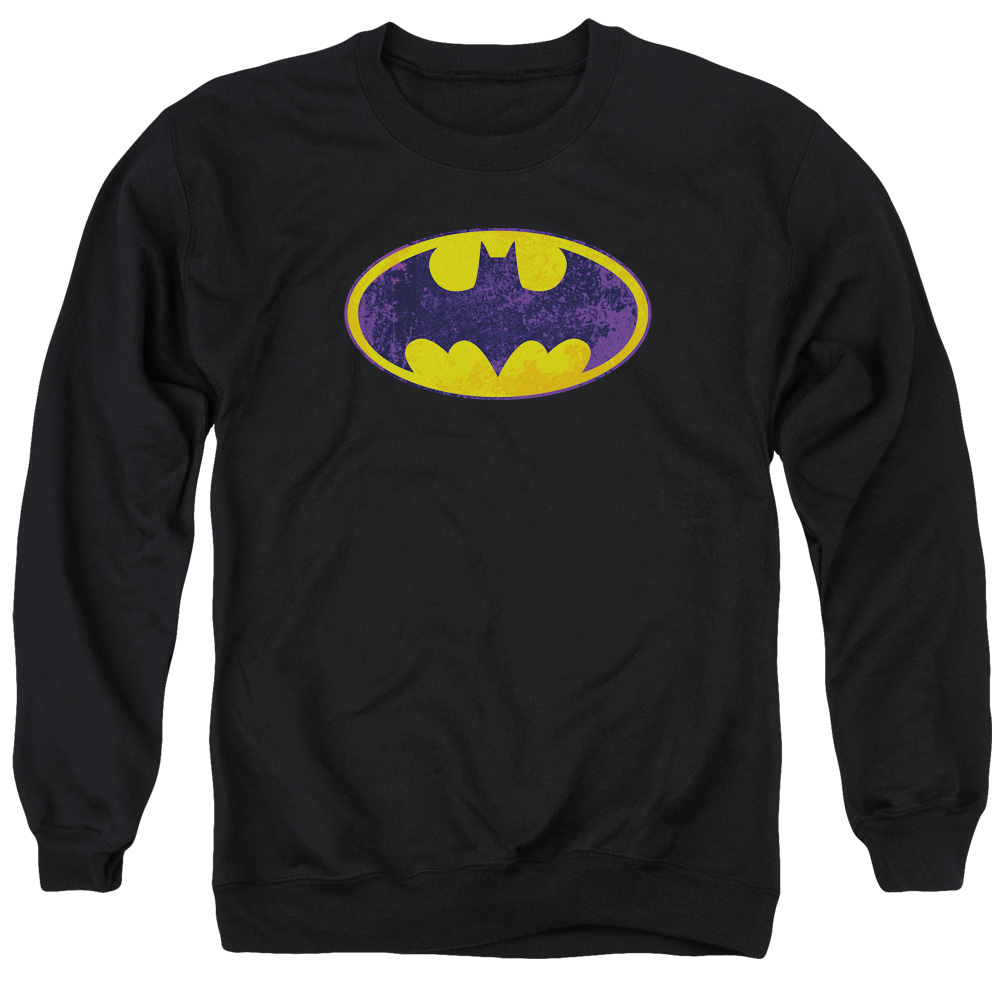 BATMAN CLASSIC ORIGINAL NEON DISTRESSED LOGO Licensed Sweatshirt Hoodie