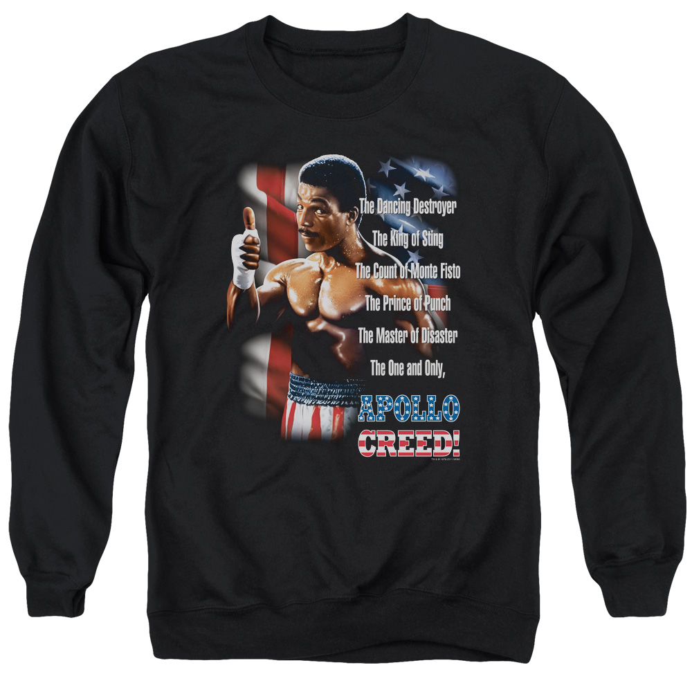 Rocky Movie Apolo Creed The One And Only Licensed Adult Pullover Hoodie