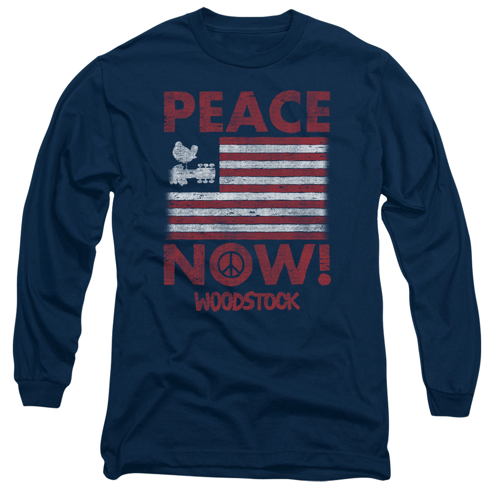 fc66c2031 Details about Woodstock Music Festival Peace Now Adult Long Sleeve T-Shirt  Tee