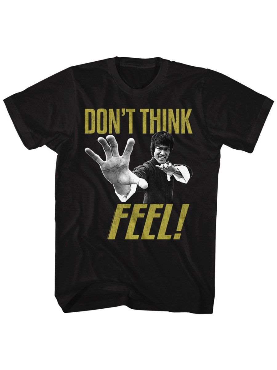 Bruce Lee Dont Think Feel Adult Tank Top