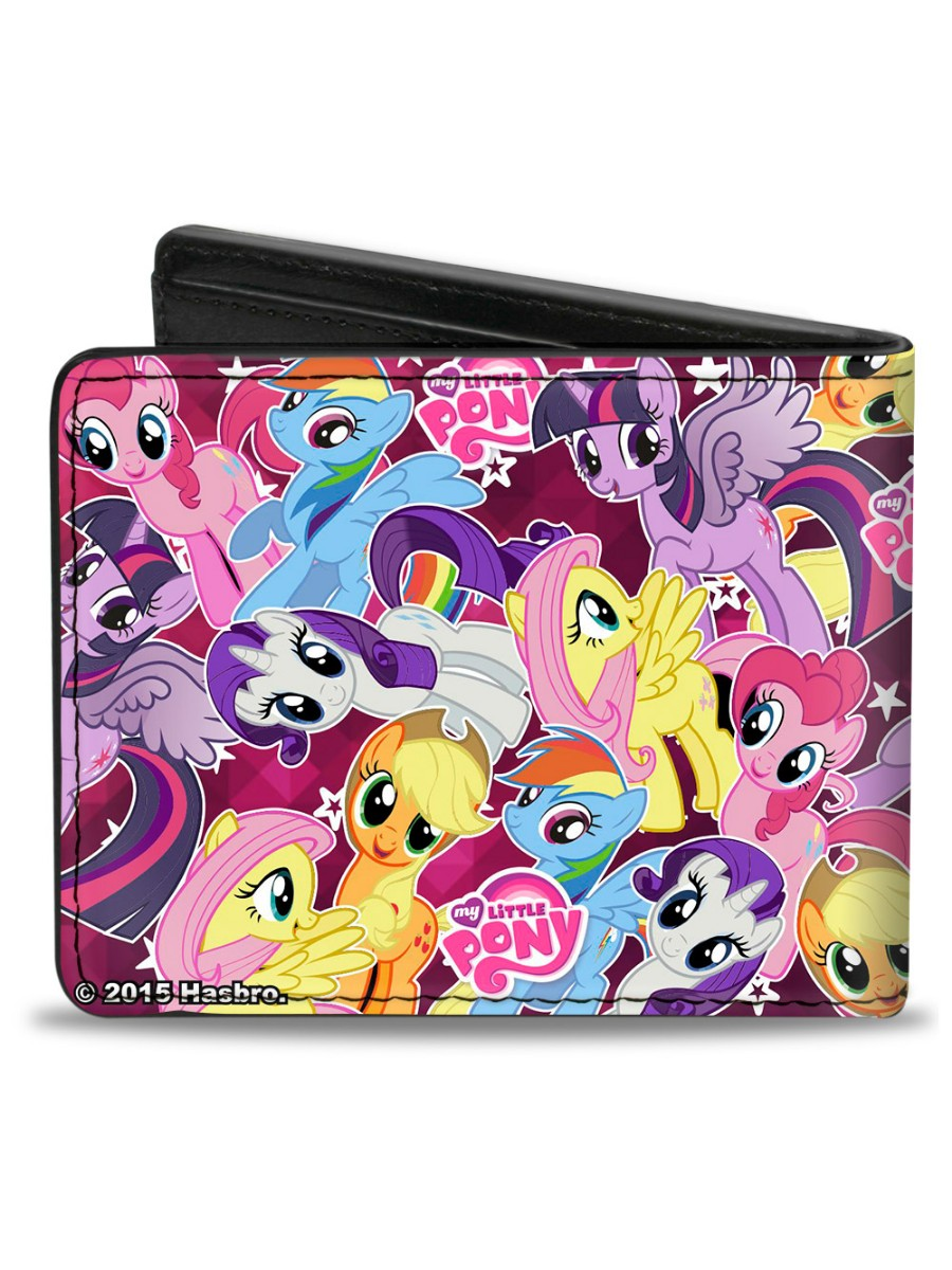 My Little Pony Toy Food : My little pony s toy collage bi fold wallet