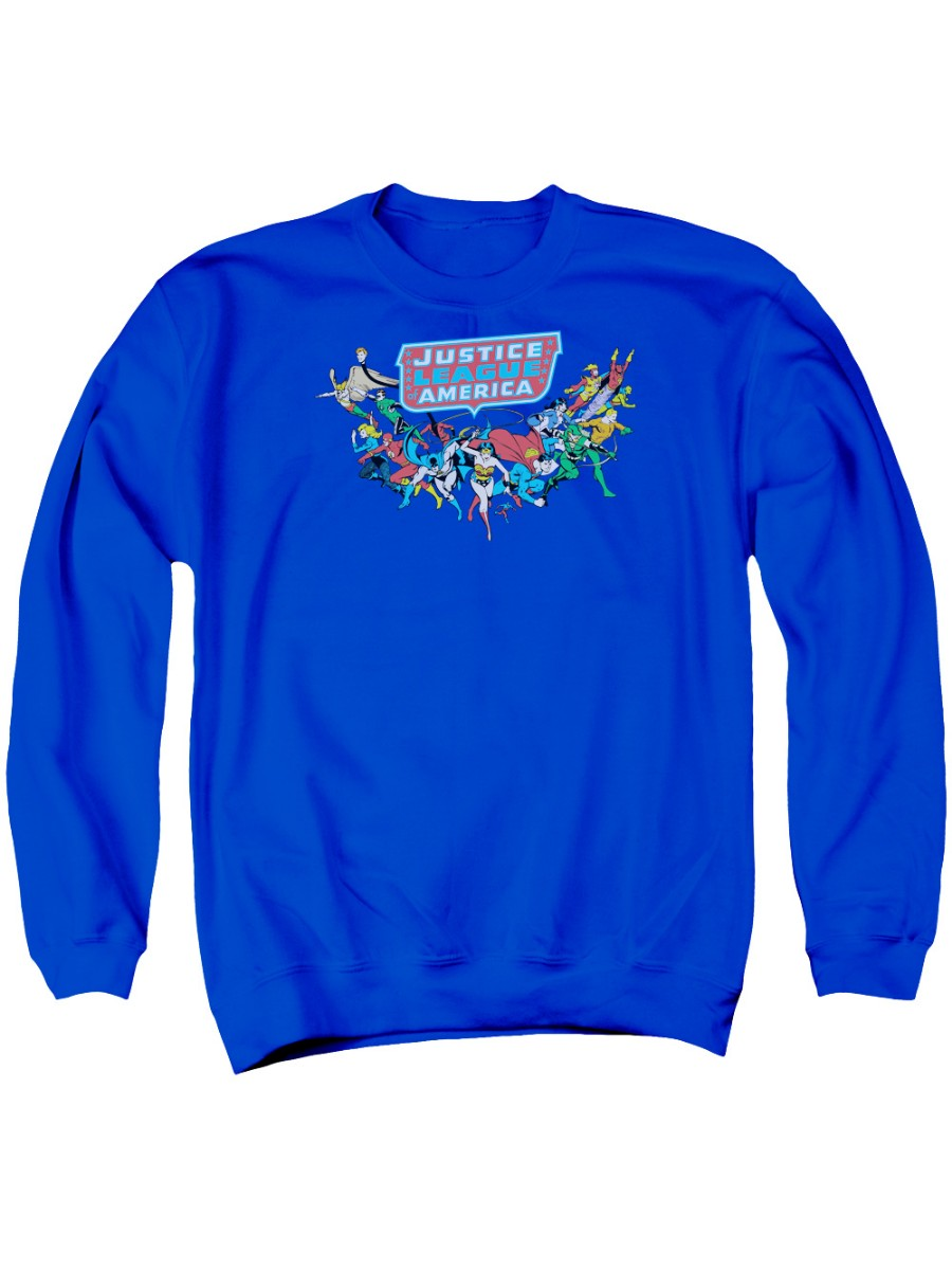 Justice League Here They Come Adult Crewneck Sweatshirt