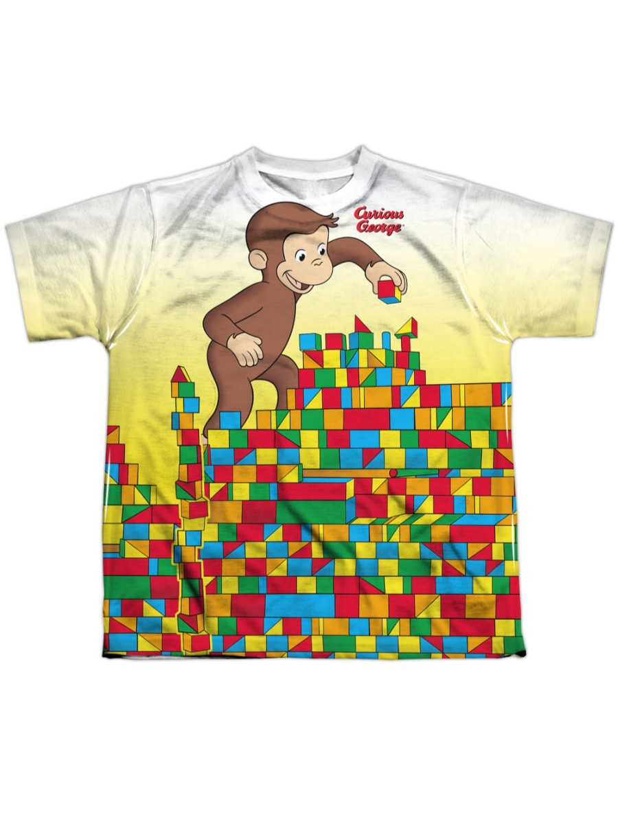 Curious George SUNNY FRIENDS Animals Licensed Juniors Cap Sleeve T-Shirt